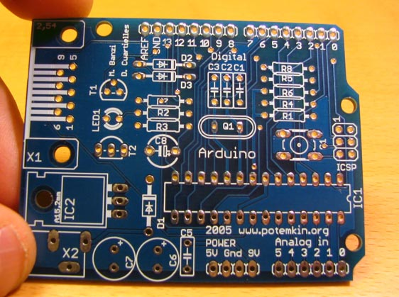 How to assemble the arduino board